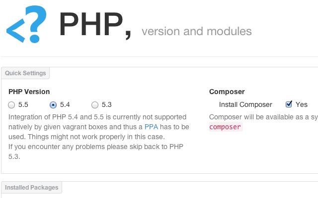 PuPHPet-step-4